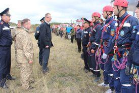 Совместные учения Северо-Казахстанской и Акмолинской областей: огонь не пройдет!
